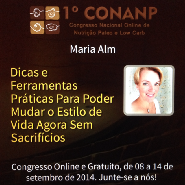 CONANP Congresso lowcarb/paleo - Online e gratuito - Inscreve se já: